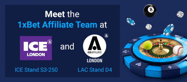 Meet 1xBet at LAC and ICE in London!